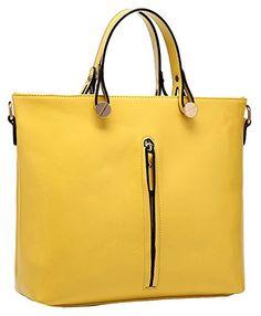 Heshe Fashion Women Genuine Leather Top-handle Tote