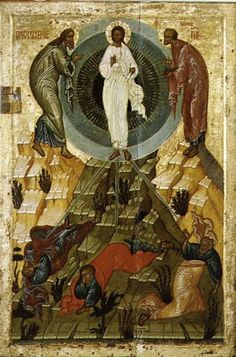 Novgorod School - The Transfiguration of Our Lord, Russian icon from the Holy Theotokos Dormition Church on the Voloto Blacks In The Bible, Raising Of Lazarus, The Transfiguration, Black Jesus, African Royalty, By Any Means Necessary, Russian Icons, Black Russian, Biblical Art