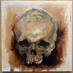 """Skull study, oil on canvas, 15,75""""x15,75"""". Used for reference. Step by step : Other works you may like : Don't miss my exclusive works, sketches and WIP's here :"""