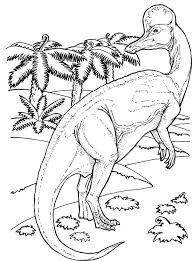 Dinosaur Corythosaurus Coloring Page