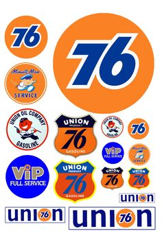 1:25 G scale Union 76 gas station signs