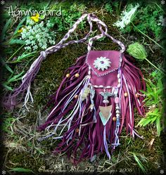 Seventh butterfly Medicine Bag by *ChaeyAhne on deviantART
