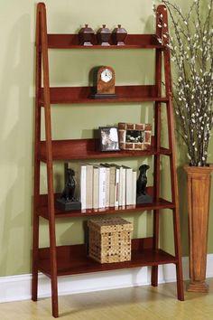 Ladder shelf for corner of living room