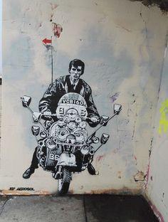 Risultati immagini per brighton quadrophenia Mod Scooter, Lambretta Scooter, Vespa Scooters, Grafitti Street, Graffiti, Mod Look, Rude Boy, Mod Fashion, Art Pictures