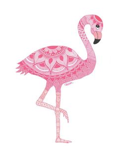 Discover recipes, home ideas, style inspiration and other ideas to try. Flamingo Wallpaper, Flamingo Art, Pink Flamingos, Flamingo Illustration, Mandala Art, Wallpapers Rosa, Zentangle, J Birds, Dibujos Cute
