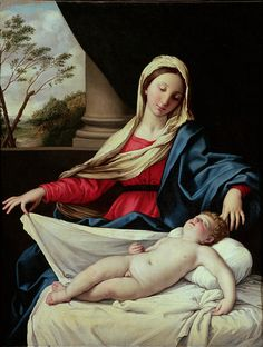 Madonna And Child Painting by Il Sassoferrato