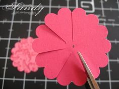 104 best paper bows flowers images on pinterest in 2018 crepe scrappy habits paper flowers paper flowers from scallop punch note that when placed on card one of the flowers have folds down the other folds are up mightylinksfo