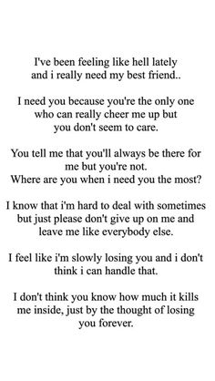 Losing a friend to cancer quotes Friends Leaving Quotes, Missing Best Friend Quotes, Losing You Quotes, Best Friend Quotes For Guys, Losing Your Best Friend, Ex Best Friend, Quotes About Losing Friends, Best Friends For Life, Done Quotes