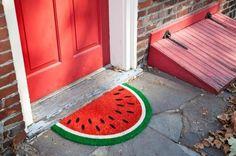 Fofura do Dia: faça um tapete melancia