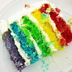 La ricetta perfetta per realizzare una torta arcobaleno dolcissima e coloratissima. Party Cakes, Biscotti, Birthday Cake, Sweet, Desserts, Food Cakes, Shower Cakes, Candy, Tailgate Desserts