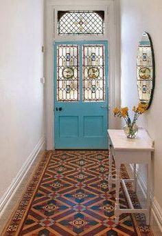 Solid door color and floor! - http://www.homedecoz.com/home-decor/solid-door-color-and-floor/