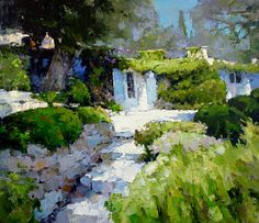The House in Provence - Alexi Zaitsev - Sale of paintings and other art works Fantasy Landscape, Landscape Art, Landscape Paintings, Montserrat, Cottage Art, Russian Art, Beautiful Paintings, French Paintings, Oil Paintings