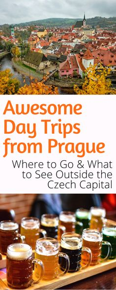 Day Trips From Prague: The Czech capital is magical, but so is the rest of the country. Here are the best places to visit in the Czech Republic on a day trip from Prague! Europe Travel Guide, Europe Destinations, Travel Info, Budget Travel, Travel Guides, Traveling Europe, Travel Articles, European Vacation, European Travel