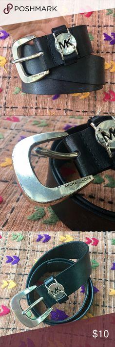 Michael Kors black leather belt Michael Kors belt. Black leather. Buckle is a little distressed. No size on it! Accessories Belts