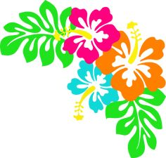 Tropical Leaves Clip Art | Hibiscus clip art
