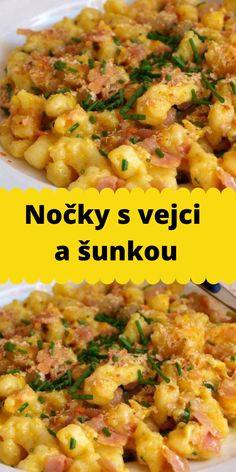 Nočky s vejci a šunkou Gnocchi, Bon Appetit, Risotto, Grilling, Food And Drink, Pasta, Bread, Ethnic Recipes, Eten