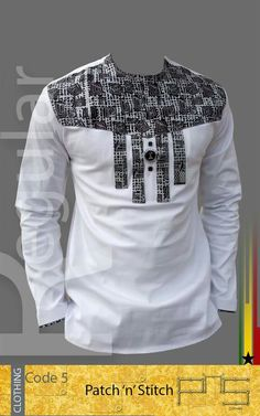 Mens White and Black Ankara Royalty Top African Wear Designs, African Wear Styles For Men, African Shirts For Men, African Dresses For Kids, African Attire For Men, African Clothing For Men, Nigerian Men Fashion, African Fashion Ankara, Latest African Fashion Dresses