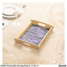 Stalks of Lavender Serving Tray #floral #garden