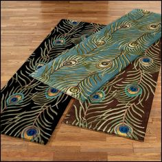 Peacock Colored area Rugs