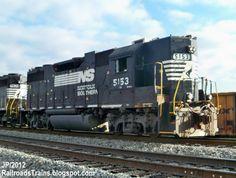 ns 5153 gp38 2 high hood emd locomotive train engine