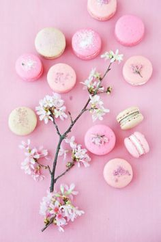Pink macarons for Spring