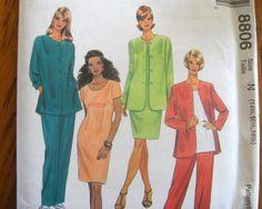 McCALLS SEWING PATTERN - 8806 - MISSES PLUS 16 1/2-20 1/2 JACKET DRESS TOP PANTS