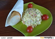 """Salát """"Kelly Family"""", cca pro tři rodiny recept - TopRecepty.cz Eggs, Cheese, Breakfast, Food, Fitness, Red Peppers, Morning Coffee, Essen, Egg"""