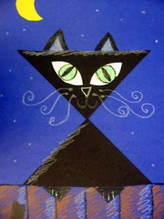 we heart art blog- adorable triangle kitty