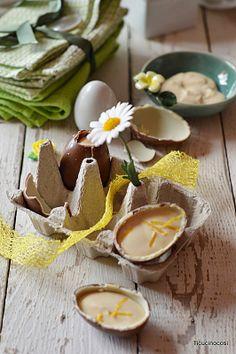 Uova di cioccolata ripiene di ricotta e limone