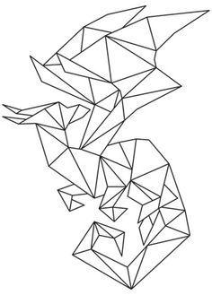 geometric dragon tattoo - Google Search