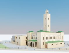 Mosque Morocco Islamic Model in Buildings 3d Architecture, Mosque, Willis Tower, Morocco, Islamic, Model, Buildings, Travel, Viajes