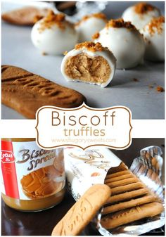 Easy, delicious, melt in your mouth, Biscoff Truffles! I love the bis off truffles! Biscoff Cookie Butter, Butter Cookies Recipe, Biscoff Cookies, Biscoff Cake, Candy Recipes, Sweet Recipes, Dessert Recipes, Dessert Ideas, Biscoff Recipes
