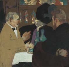 La Partie de Plaisir, Edouard Vuillard gouache and distemper on board, 29 by 30 inches, circa Pierre Bonnard, Maurice Denis, Edouard Vuillard, Figure Painting, Painting & Drawing, Cafe Concert, Felix Vallotton, Jewish Museum, Impressionist Artists