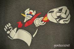 camiseta patchwork mazinger z