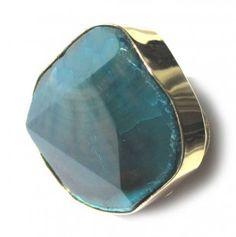 Dark Blue Agate Ring