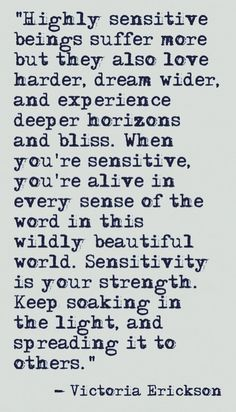 I needed this. I kept on feeling like I'm too sensitive and that I should just get stronger and tuck it away, but in reality it is my strength