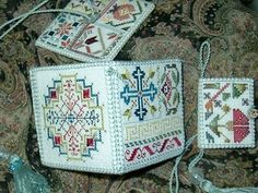 Spanish Sampler Kit by Betsy Morgan  Etui, Needlebook and Pincushion  #stitch