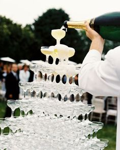 A MUST. Bubbling Champagne tower
