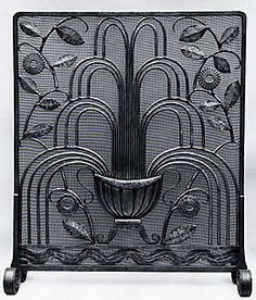 The Metropolitan Museum of Art, Edgar Brandt fireplace screen