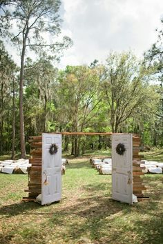 Southern wedding - outdoor chapel by TinyCarmen  would love to recreate something like this beautiful