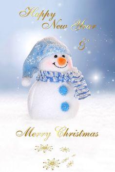 Merry Christmas U0026 Happy New Year Snowman