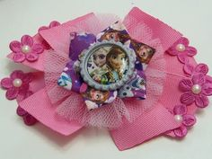 Como Hacer Lazos Faciles / DIY Make Hair Bow/ Ribbon bows with flower - YouTube