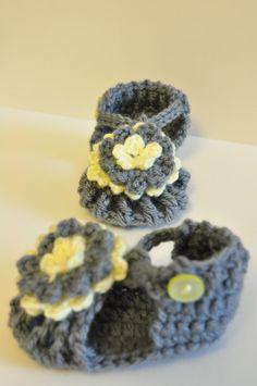 crocheted sandals