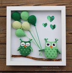Create and decoration: description, patterns of painting with crocheted owls and balloons Crochet Bird Patterns, Animal Knitting Patterns, Crochet Amigurumi Free Patterns, Crochet Dolls, Crochet Wall Art, Crochet Wall Hangings, Crochet Santa, Crochet Gifts, Crochet Disney