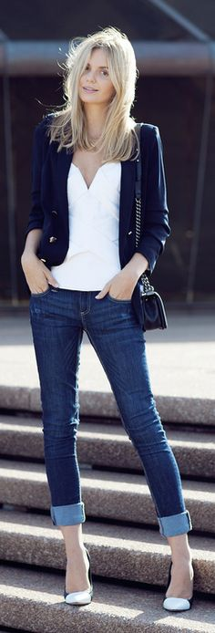 blazer and jeans - can't miss