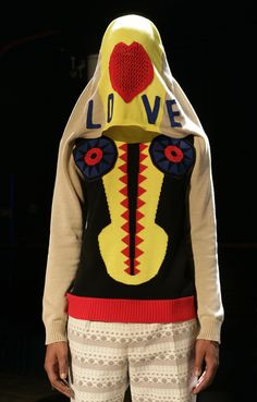 Walter Van Beirendonck - not sure where the love comes in. Makes me want to run away!