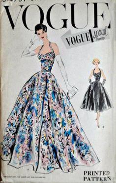 Vintage Vogue Special Design Original Sewing Pattern Size 12 32 Bust Uncut FF Rare Vogue Pattern Vogue Fashion, 1950s Fashion, Vintage Fashion, Gothic Fashion, Fashion Design Drawings, Fashion Sketches, Vintage Dresses, Vintage Outfits, Vintage Vogue Patterns