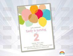BALLOONS invitation - birthday Invitation by RyanDigitalPhoto on Etsy https://www.etsy.com/listing/235786507/balloons-invitation-birthday-invitation