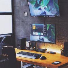 World Class Desk Setups ( Computer Desk Organization, Computer Desk Setup, Workspace Desk, Home Office Setup, Office Desk, Dream Desk, Desk Layout, Studio Setup, Office Walls