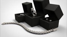 Alexandra Collection - Knife Edge Diamond Jewellery Set